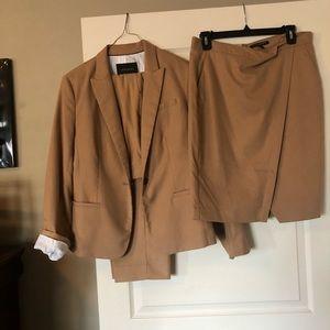 Banana Republic Khaki Suit With Skirt